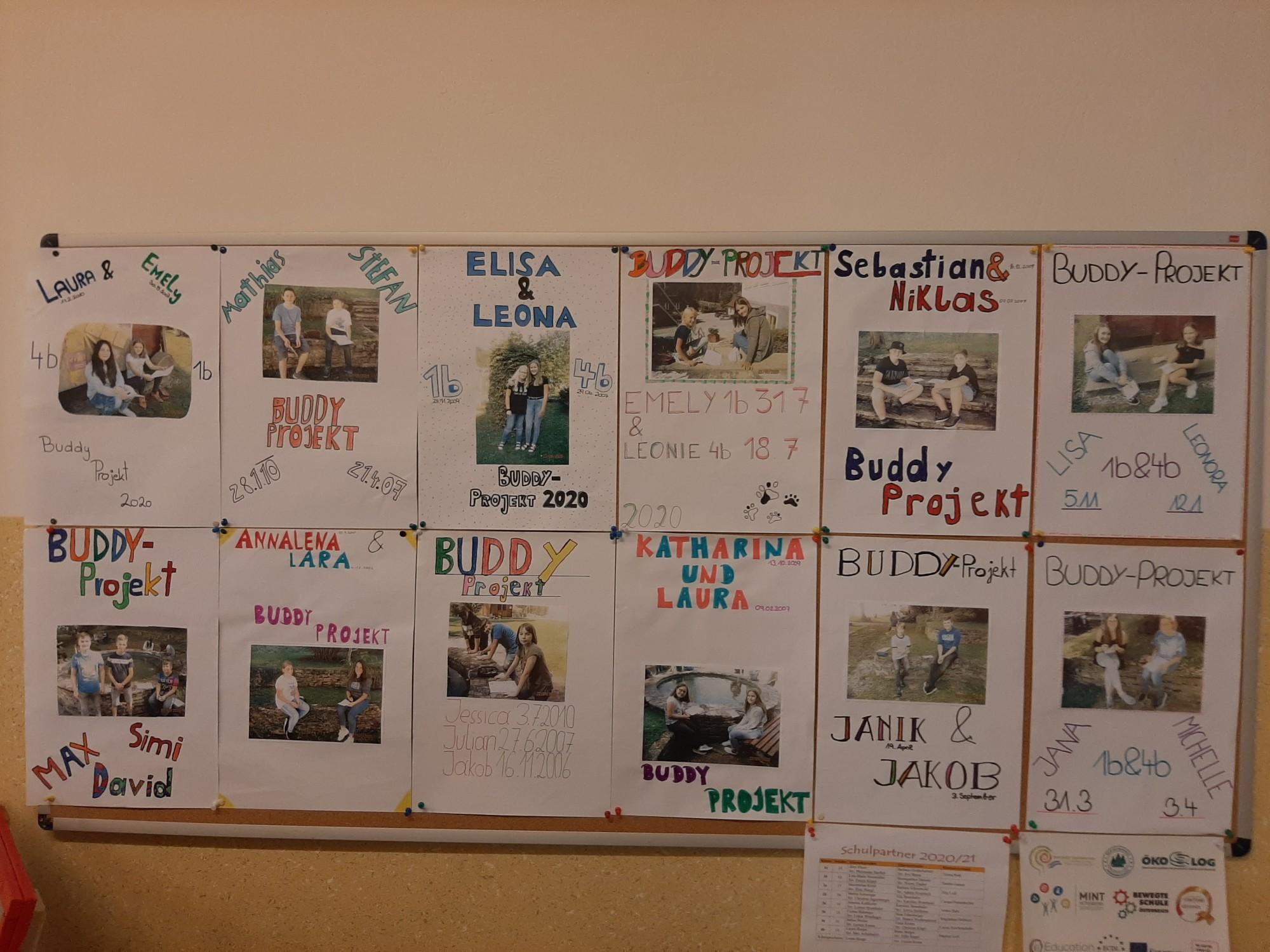 Buddy Projekt der 1. und 4. Klassen